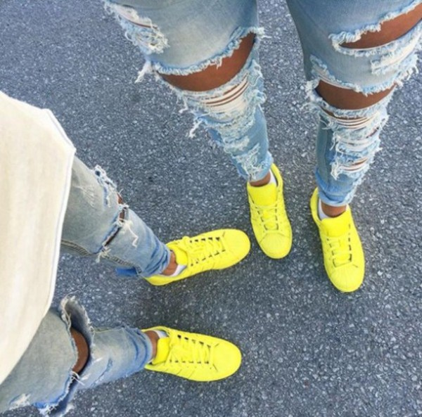 shoes yellow shoes adidas superstars adidas supercolor