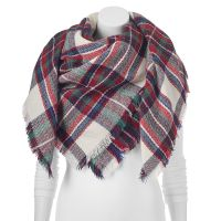 Apt. 9 Fringe Plaid Oblong Blanket Scarf