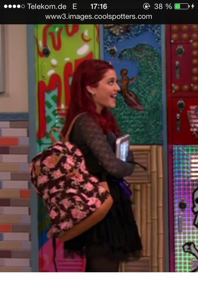 kitchen chairs at target barton chair accessories bag: cat valentine, ariana grande, backpack, flowers, back to school, girly - wheretoget