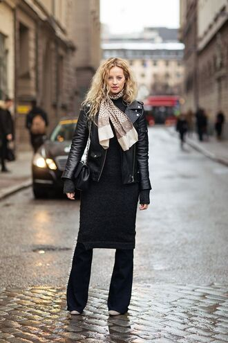 Image result for dress over leather pants