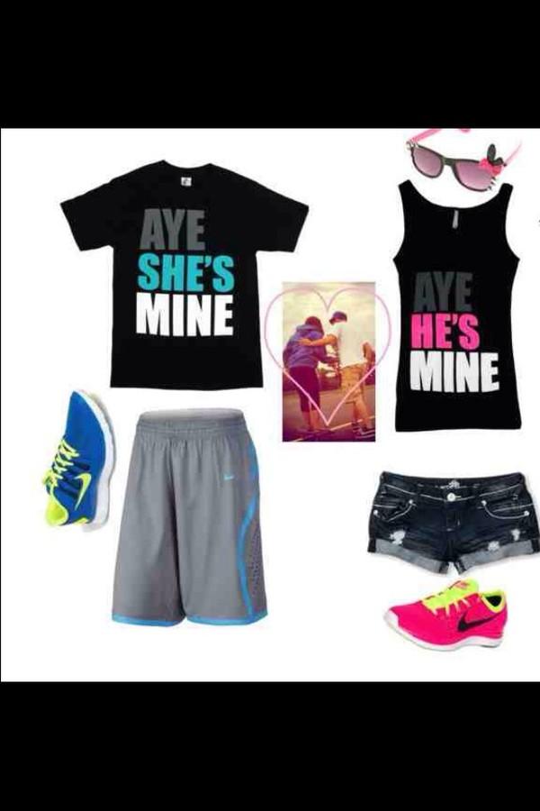 Shirt boyfriend girlfriend lovers matching shirts