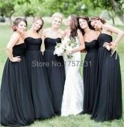 black bridesmaid