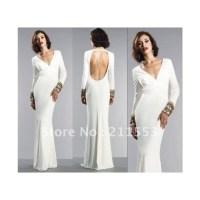Dress: white dress, long prom dress, bodycon dress, long ...