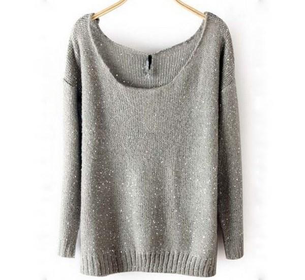 Sparkle Grey Sweater