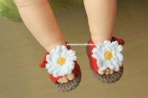 Summer Baby Booties Crochet Pattern