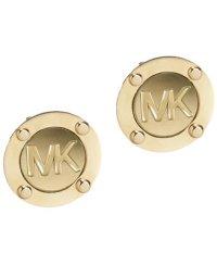 Michael Kors Gold-Tone Logo Stud Earrings - Jewelry ...