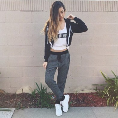 Image result for zip up hoodie and shorts girl