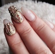 jewels nails gold ring finger