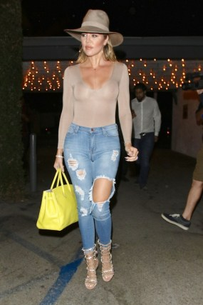 Image result for Khloe Kardashian ripped Denim