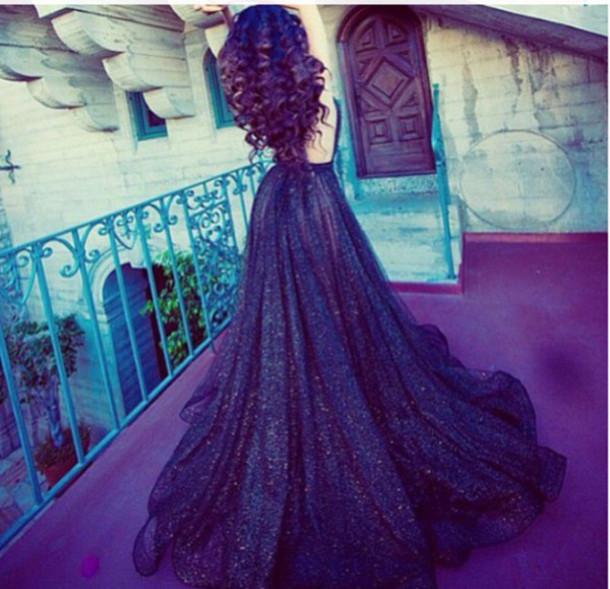 Dress prom dress glitter long dress glitter dress purple dress  Wheretoget