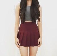 skirt, skater skirt, burgundy, burgundy skirt, circle ...