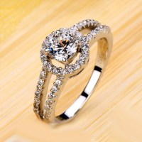 jewels, diamond ring for her, gold plated women ring ...