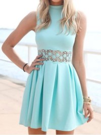 mint, mint dress, short homecoming dress, spring dress