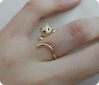 Jewels: gold ring, cat ring, wrap cat, bag, ring, jewerly ...