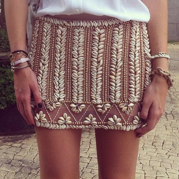 Skirt shell cowrie shell design cowrie skirt patricia