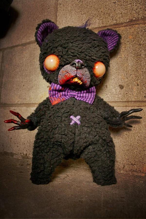Jewels creepy creepy kawaii teddy bear bear black