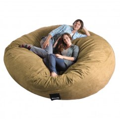 Giant Bean Bag Chair Childcare Glider Rocker Ottoman Review Amazon 8 Feet Round Light Brown Tan Xxxl Foam