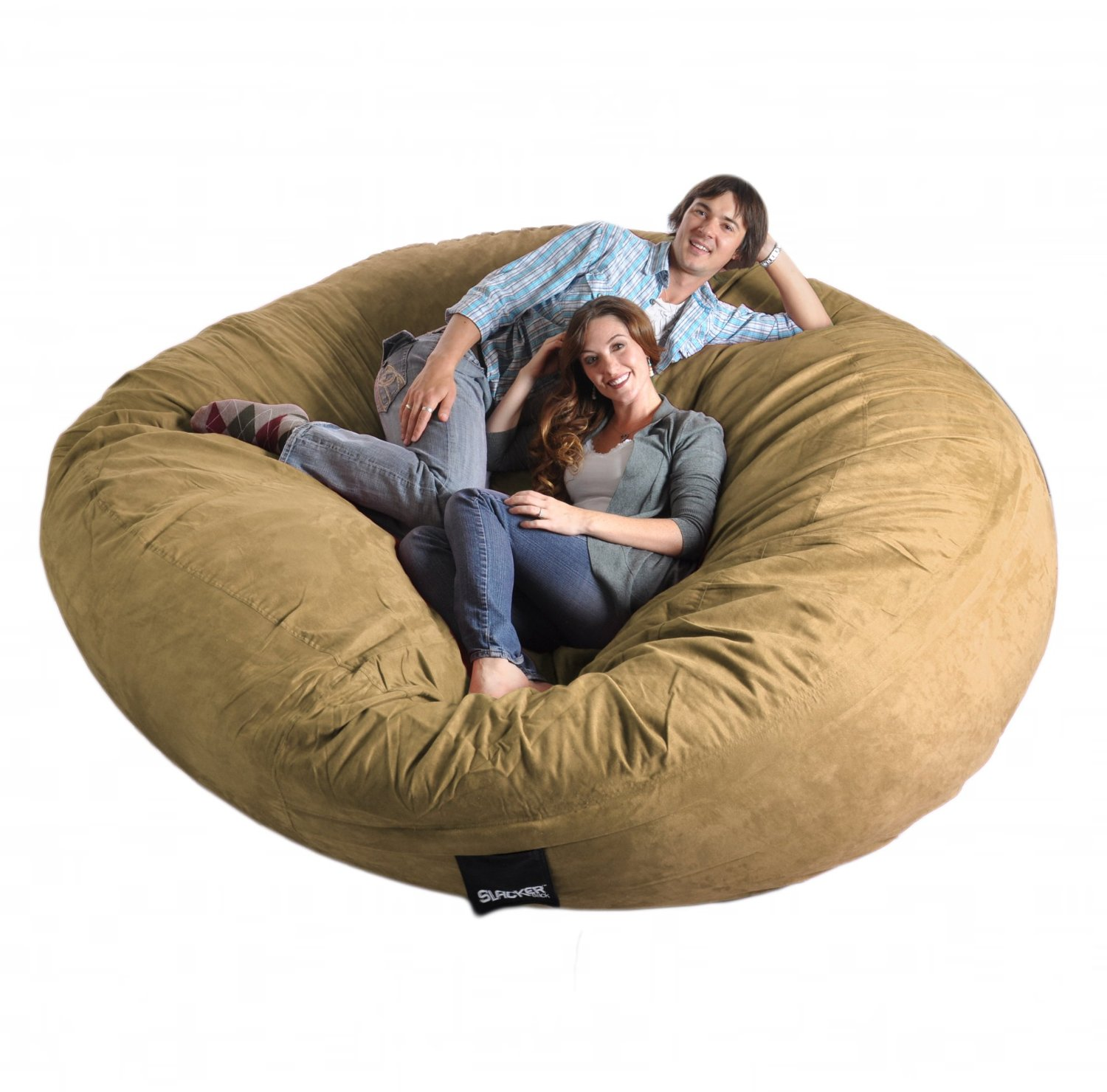 Love Sac Bean Bag Chair Amazon 8 Feet Round Light Brown Tan Xxxl Foam Bean Bag Chair Microfiber Suede Giant Slacker Sack Like Lovesac Biggest Beanbag Home Kitchen