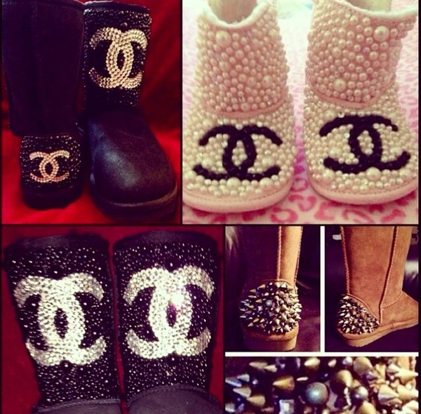 cheap kitchen supplies and bath design software shoes: custom uggs chanel - wheretoget