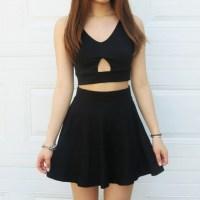 top, dress, crop tops, black, cropped, short skirt, shirt ...