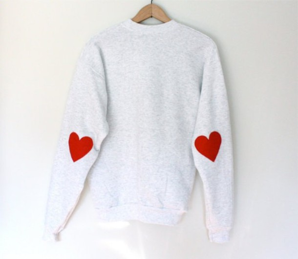 Sweater elbow patches patch knitwear grey sweater