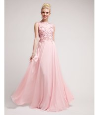 2014 Prom Dresses - Baby Pink Beaded Lace & Chiffon Gown ...