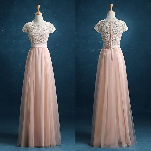 dress prom prom dress pastel pastel dress peach