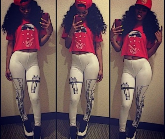 Shirt Clothes Teyana Taylor Gun Leggings Red Air Jordan Pants Shoes Leggings Swag Dope Trill Fashion