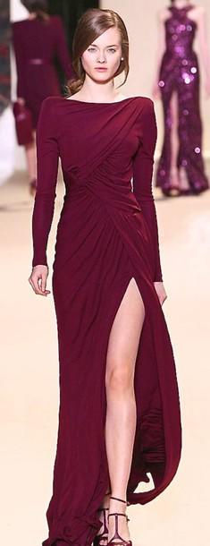 long sleeves, burgundy, maroon/burgundy, burgundy dress