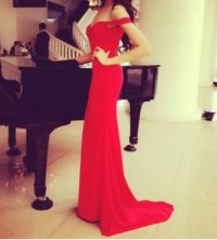 Dress: red dress, prom dress, elegant, maxi dress, long ...
