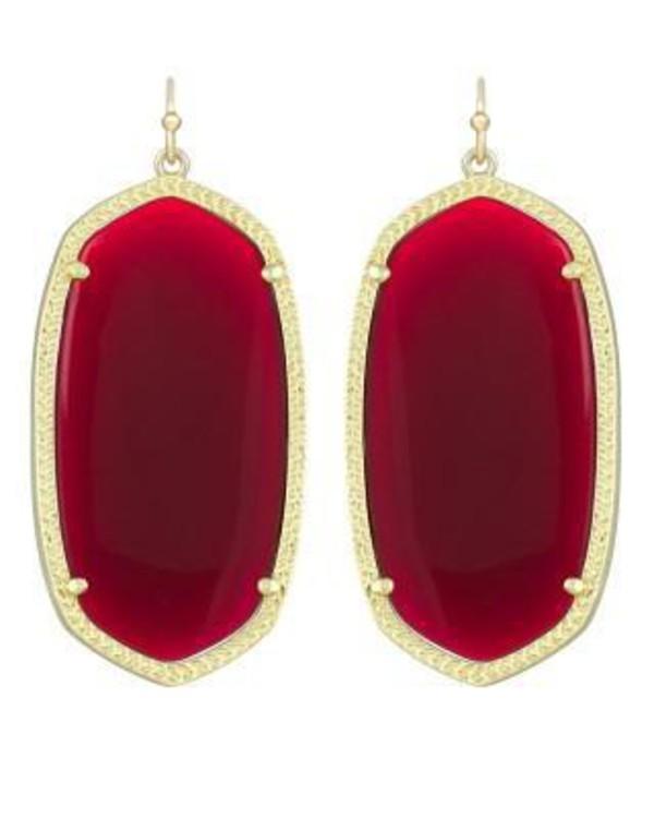 Danielle Earrings in Dark Red
