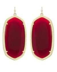 Danielle Earrings in Dark Red - Kendra Scott Jewelry
