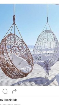 home accessory, white, brown, chair, hanging chair ...