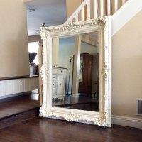 GORGEOUS ORNATE MIRROR For Sale, Large White Mirror ...