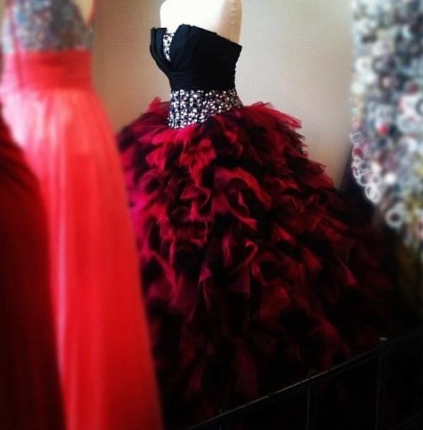 Dress red dress black dress quinceanera dress bag