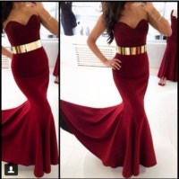 Dress: belt, burgundy, cute, style, red, gold, red dress ...
