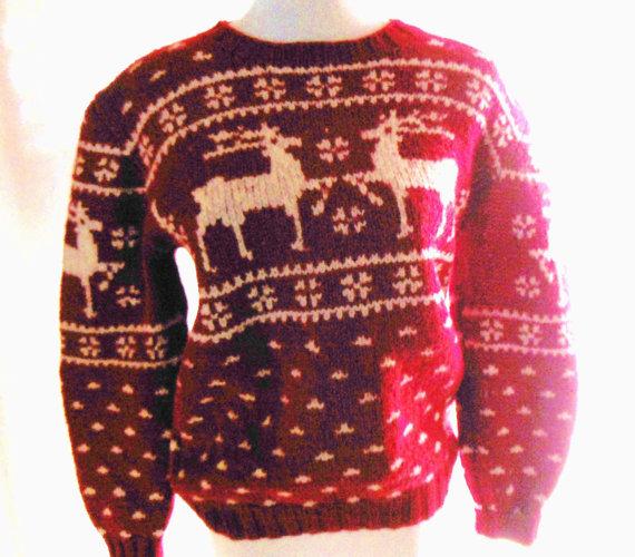 Vintage POLO RALPH LAUREN Reindeer Ski Sweater By