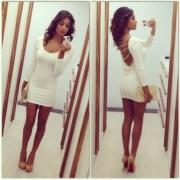 dress gold white high