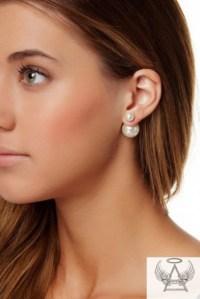 jewels, stud earrings, double sided earrings, ball ...