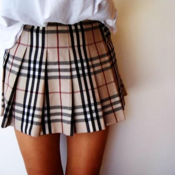 : Skirt, Plaid, Tumblr, Plaid Print Skirt, Plaid Skirt, Mini Skirt