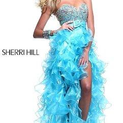 Orange Sofas Ebay Sofa Repairs Palam Colony Strapless High Low Prom Dresses, Sherri Hill Hi Lo Dress ...