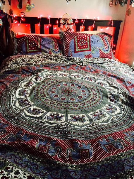 home accessory boho tribal pattern bedding trippy has