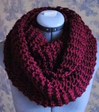 SALE - Knit Scarf Infinity Scarf in Burgundy Crochet ...