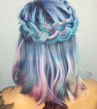 Jewels: braid, tumblr, hair, rainbow hair, hairstyles ...