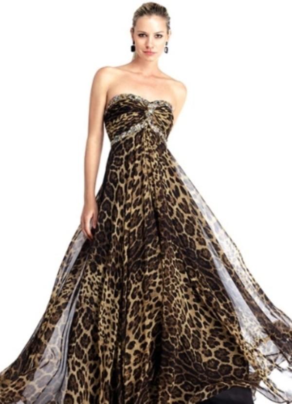 Dress formal animal print  Wheretoget
