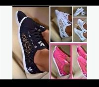 New Ladies Adidas Style Lace Pumps