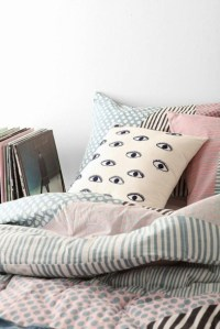 Home accessory: urban outfitters, eyes, pillow, bedding ...