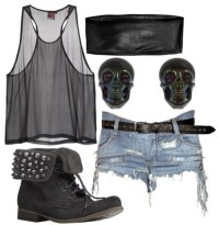 shorts, tumblr outfit, grunge, see through, vest top ...