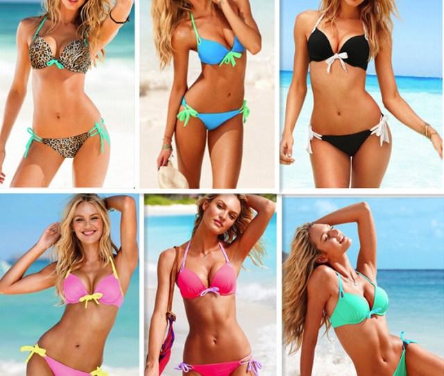 7colors 2014 New Discount Women Victoria Style Swimsuit Beach Bikini Womans Swim Wear Push Up Bathing