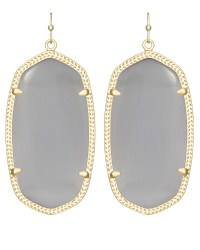 Danielle Gold Earrings in Slate - Kendra Scott Jewelry